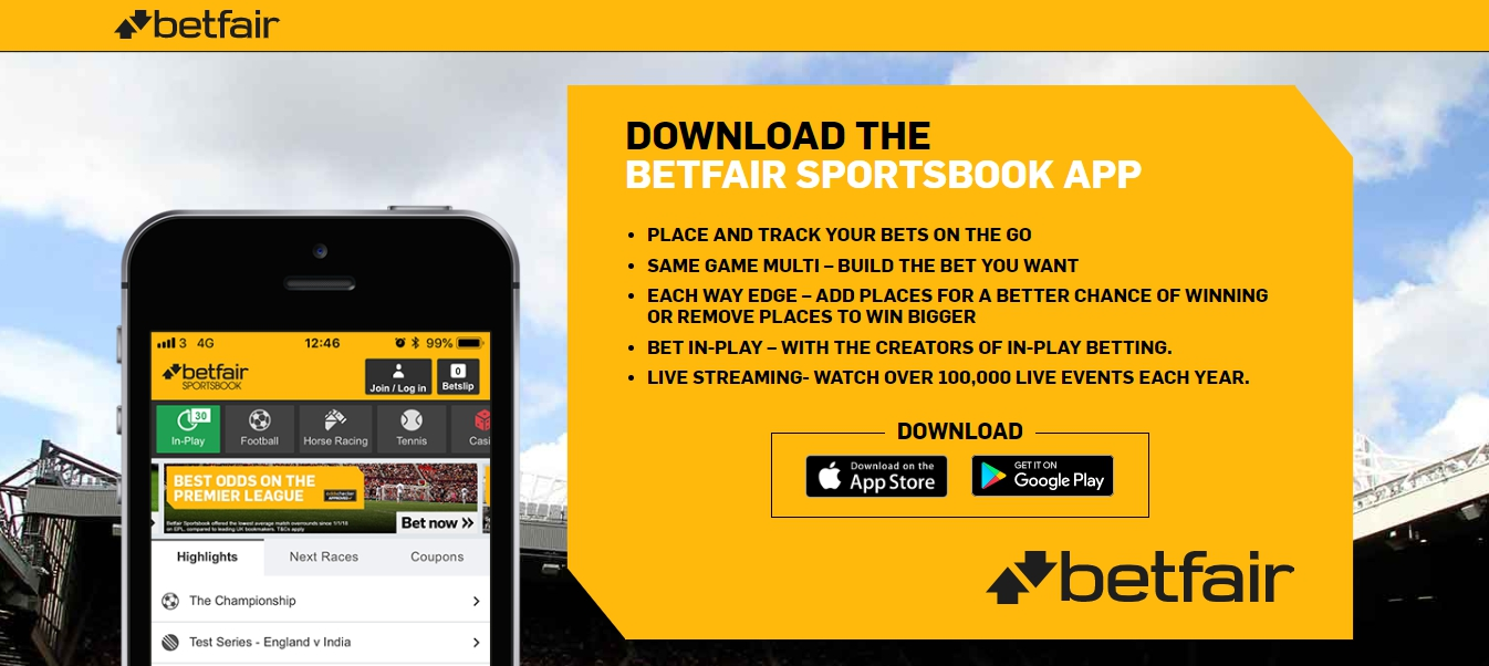 mobile version of the Betfair app