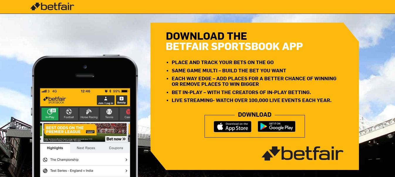mobile version of the Betfair app